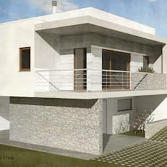 Casa do Vale | Almada: Casas unifamilares  por ATELIER OPEN ® - Arquitetura e Engenharia