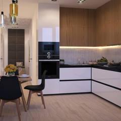 Квартира в современном стиле: Встроенные кухни в . Автор – Новые Традиции