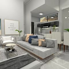 Living room by YasminK Arquitetura
