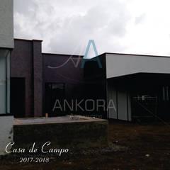 CASA CANO: Casas campestres de estilo  por ANKORA ARQUITECTOS