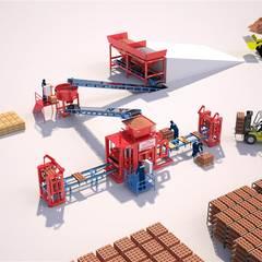 مصنع بلوك اسمنتي - ماكينة انترلوك :  شركات تنفيذ BEYAZLI GROUP,