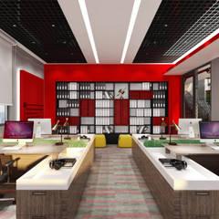 WALL INTERIOR DESIGN – SİSTEM TEKNİK OFİS PROJESİ:  tarz Ofisler ve Mağazalar