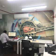 Fábrica Rexroth - Lima, Perú: Oficinas de estilo  por Blow Deco Pics , Industrial