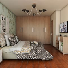 Visualización de Espacios Arquitectónicos: Habitaciones de estilo  por ADU ARQUITECTOS, Moderno Madera Acabado en madera
