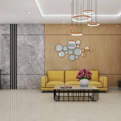 غرفة المعيشة تنفيذ MK designs , بحر أبيض متوسط رخام