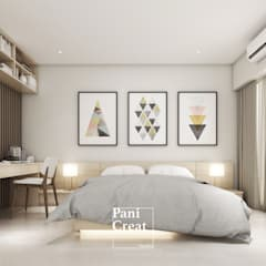 Small bedroom توسطPANI CREAT STUDIO CO., LTD., مینیمالیستیک