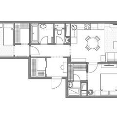 «Мягкость и комфорт в Долгопрудном» / 77 м 2: Стены в . Автор – Студия дизайна интерьера Натальи Патрушевой