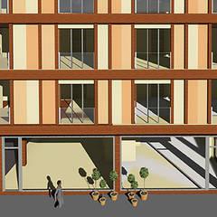 Yenibosna Apartman Projesi Endüstriyel Evler Aktif Mimarlık Mimarlık Dek.İnş.Malz.San.Tic.Ltd.Şti. Endüstriyel