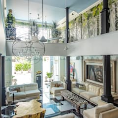 Maximalist Living Room Design by Design Intervention:  Living room by Design Intervention