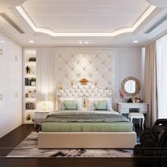 Phong cách Tân Cổ Điển - Ngôi nhà thiết kế sáng tạo, truyền cảm hứng cuộc sống:  Phòng ngủ by ICON INTERIOR,