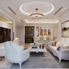 Phong cách Tân Cổ Điển - Ngôi nhà thiết kế sáng tạo, truyền cảm hứng cuộc sống:  Phòng khách by ICON INTERIOR, Kinh điển