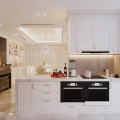 Phong cách Tân Cổ Điển - Ngôi nhà thiết kế sáng tạo, truyền cảm hứng cuộc sống:  Nhà bếp by ICON INTERIOR