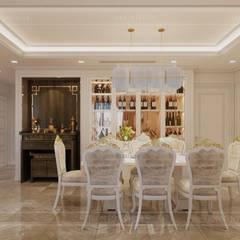 Phong cách Tân Cổ Điển - Ngôi nhà thiết kế sáng tạo, truyền cảm hứng cuộc sống:  Phòng ăn by ICON INTERIOR