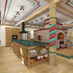 Kitchen units by Архитектурная студия 'Арт-Н'