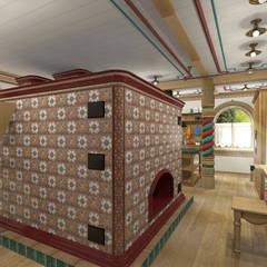 Русский стиль 1 этаж: Коридор и прихожая в . Автор – Архитектурная студия 'Арт-Н', Кантри