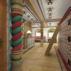 Русский стиль 1 этаж: Коридор и прихожая в . Автор – Архитектурная студия 'Арт-Н'