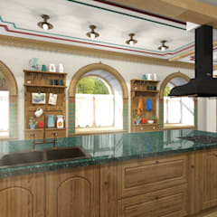 Kitchen units by Архитектурная студия 'Арт-Н',
