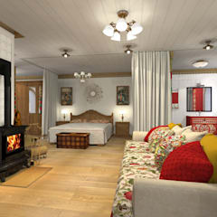 Русский стиль 2 этаж: Спальни в . Автор – Архитектурная студия 'Арт-Н'