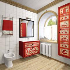 Архитектурная студия 'Арт-Н'が手掛けた浴室,