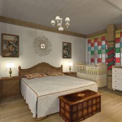غرف نوم صغيرة تنفيذ Архитектурная студия 'Арт-Н'