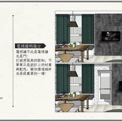 13坪的隔局改造放大術:  牆面 by 喬克諾空間設計