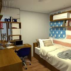 cozinha de escritório - Casa Comercial: Quartos de adolescente  por Silvana Lima e UrbanaDI
