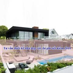 Tư vấn thiết kế nhà đẹp với chi phí tiết kiệm năm 2019:  Nhà by Công ty cổ phần tư vấn kiến trúc xây dựng Nam Long, Hiện đại