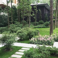 """Пять уровней комфорта КП """"Жуковка"""": Сады в . Автор – ARCADIA GARDEN Landscape Studio"""