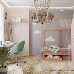 Детская комната: Спальни для девочек в . Автор – YOUR COMFORTABLE HOME
