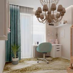 غرفة نوم بنات تنفيذ YOUR COMFORTABLE HOME