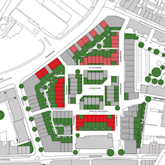21 woningen Lindenkruis Fase 2 + 3, Maastricht:  Eengezinswoning door Verheij Architecten BNA