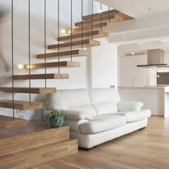 Stairs by MANGRANA arquitectes, Scandinavian Wood Wood effect