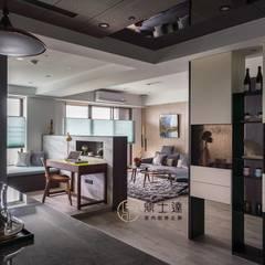 餐廳穿透個空間 Modern Study Room and Home Office by 鼎士達室內裝修企劃 Modern Engineered Wood Transparent
