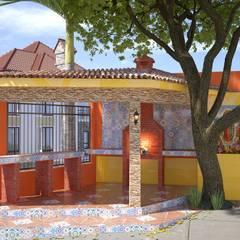 Diseño de asador : Terrazas de estilo  por Arq. Alejandro Garza