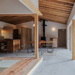 君田の家: WADAGUMIが手掛けた木造住宅です。,和風 無垢材 多色