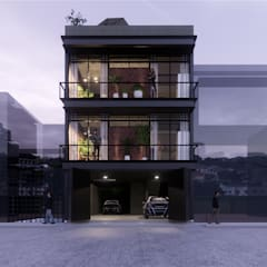 Multi-Family house by AXS Arquitectos, Industrial Iron/Steel
