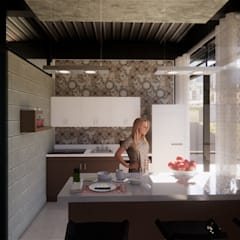 Small kitchens by AXS Arquitectos