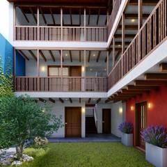 走廊 & 玄關 by FRANCO CACERES / Arquitectos & Asociados
