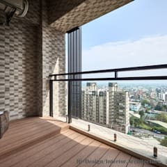 Hi+Design/Interior.Architecture. 寰邑空間設計:  tarz Balkon