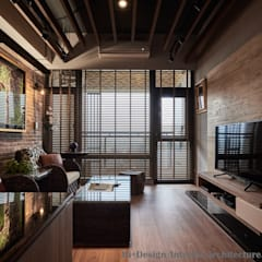 Ruang Keluarga by Hi+Design/Interior.Architecture. 寰邑空間設計