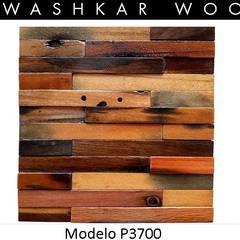 Panel Decorativo de Madera P3700: Paredes de estilo  por Kawashkar Woods