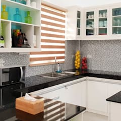 Black Galaxy Granite Kitchen Countertop in Bantayan Island Cebu:  Kitchen units by Stone Depot