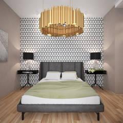 Дизайнер Ольга Погореловаが手掛けた小さな寝室