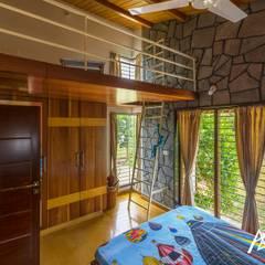 The Habitat:  Bedroom by Archemist Architects