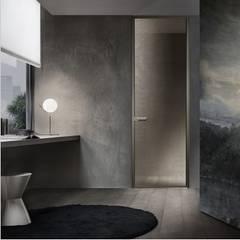 Rimadesio Zen moderne kozijnloze kamerhoge deur:  Glazen deuren door Noctum