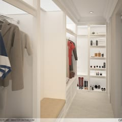 Dressing room by Ground 11 Architects