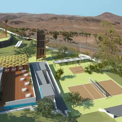 Projekty,  Skalnik zaprojektowane przez Estudio Richiger & Melián asociados SCP
