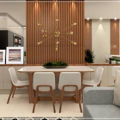 APARTAMENTO 70m²: Salas de jantar  por Studio In Arquitetura,Moderno