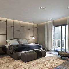 :  غرفة نوم تنفيذ ICONIC DESIGN STUDIO