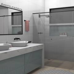 Banheiro Casal: Banheiros  por YasminK Arquitetura